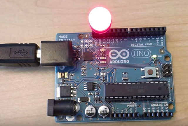 Join our Arduino 101 summer course at Tam High to make interactive objects like this one.