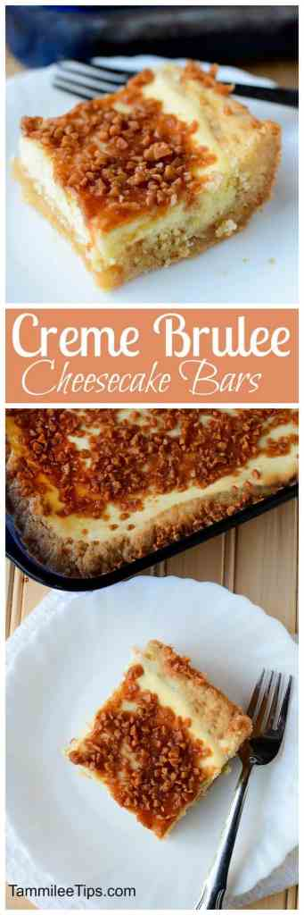 Hello yum! Creme Brulee Cheese Cake Bars that are hard to resist! Crème brulee, meet sugar cookie in this easy dessert bar recipe, both treats come together in each bite. These are soooooo good!