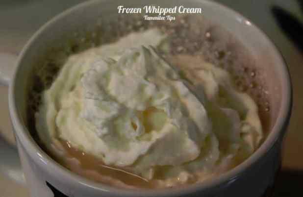 Frozen Whipped Cream in the mug lbld