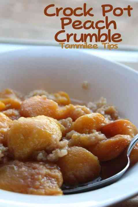 Crock Pot Peach Crumble[