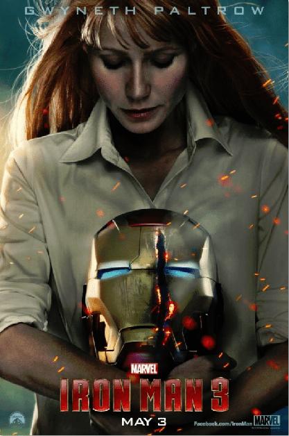 Iron Man 3 Movie Poster Gwyneth Paltrow