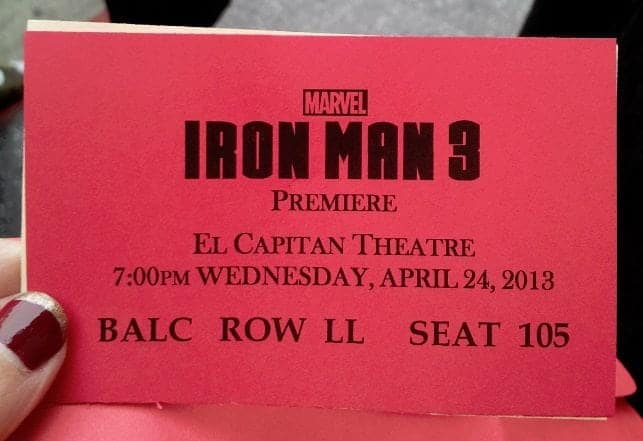 Iron Man 3 Red Carpet Premiere at the El Capitan Theater 3
