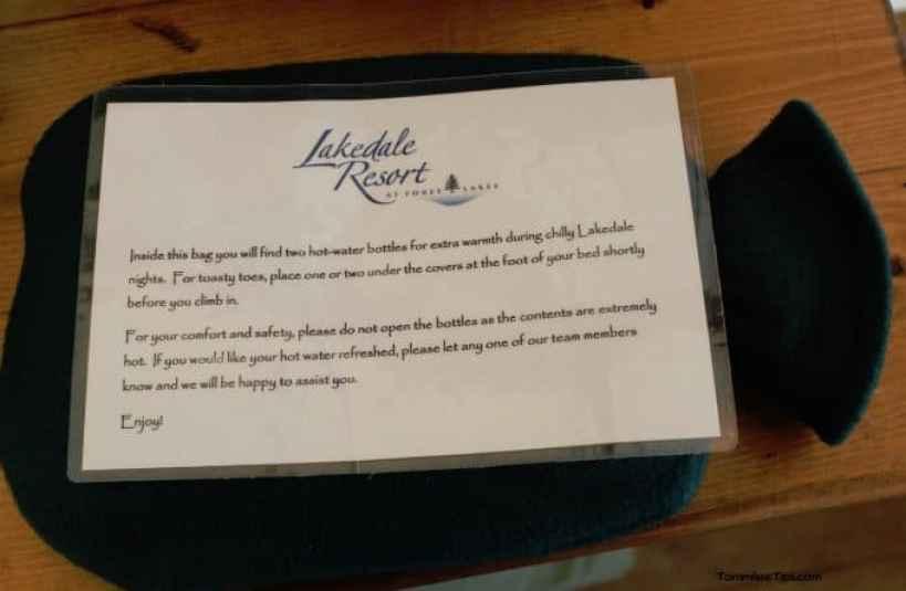 Lakedale Resorts Glamping Hot Water Bottle
