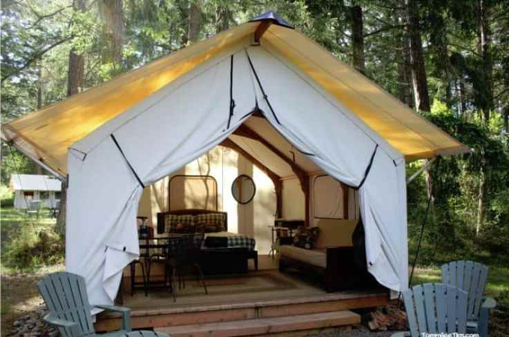 Lakedale Resorts Glamping Tent 2