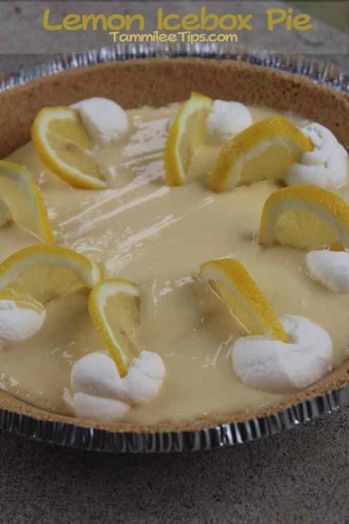 Lemon Icebox Pie Tammilee Tips