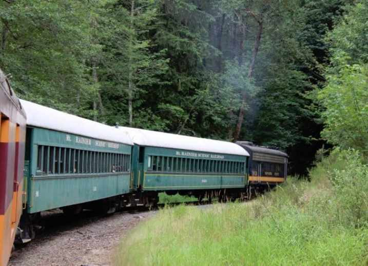 Mount Rainier Scenic Railroad Train ride