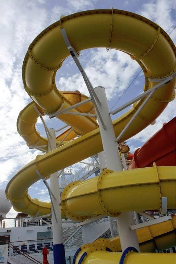 Carnival Breeze Pool Waterslides