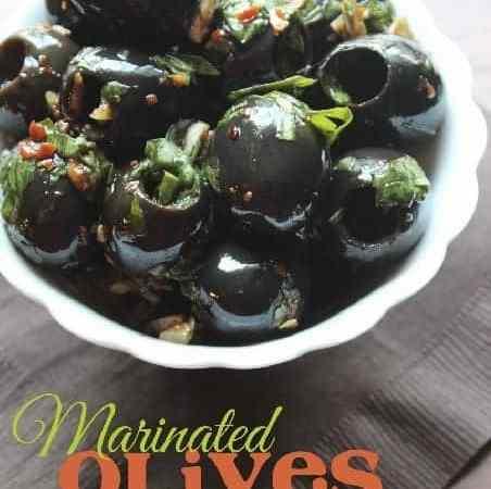 Super Easy Marinated Olives