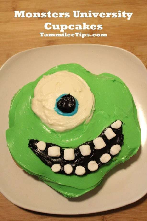 Monsters University Cupcakes Mike Wazowski