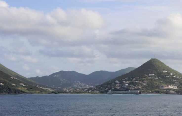 St Maarten from the Carnival Breeze