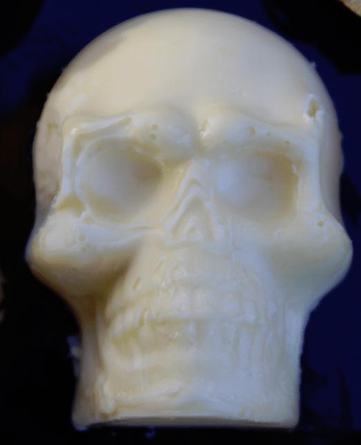 molded skull butter Halloween