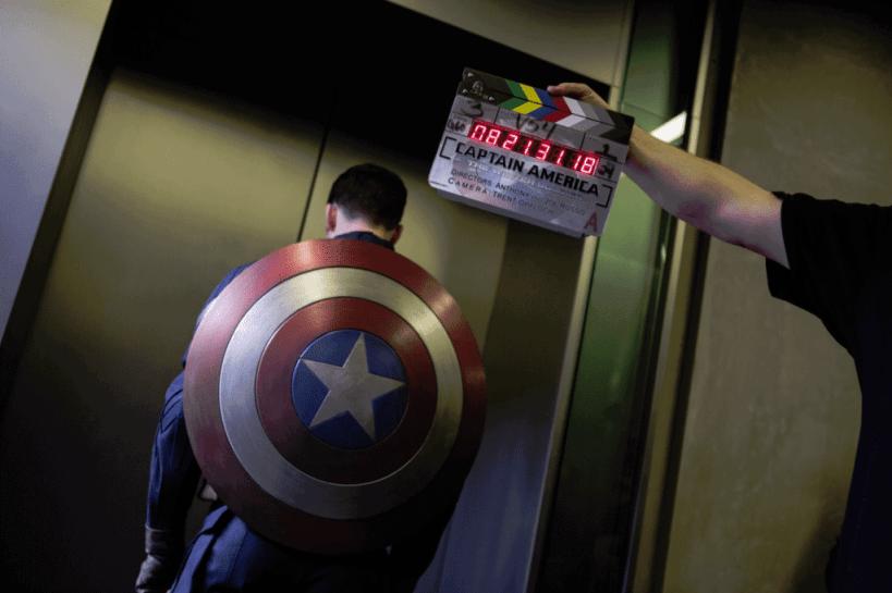Chris Evans Capt America behind the scenes