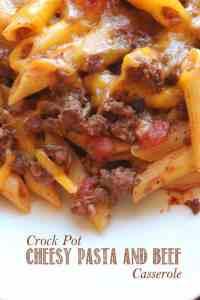 Crock Pot Cheesy Beef and Pasta Casserole