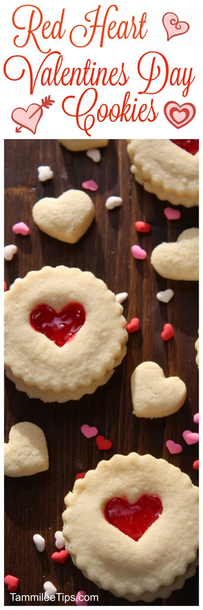 Super easy red heart Valentines Day Cookie Recipe! These DIY cute easy non decorated cookies are perfect for anyone! They taste amazing and they are super easy to make! 