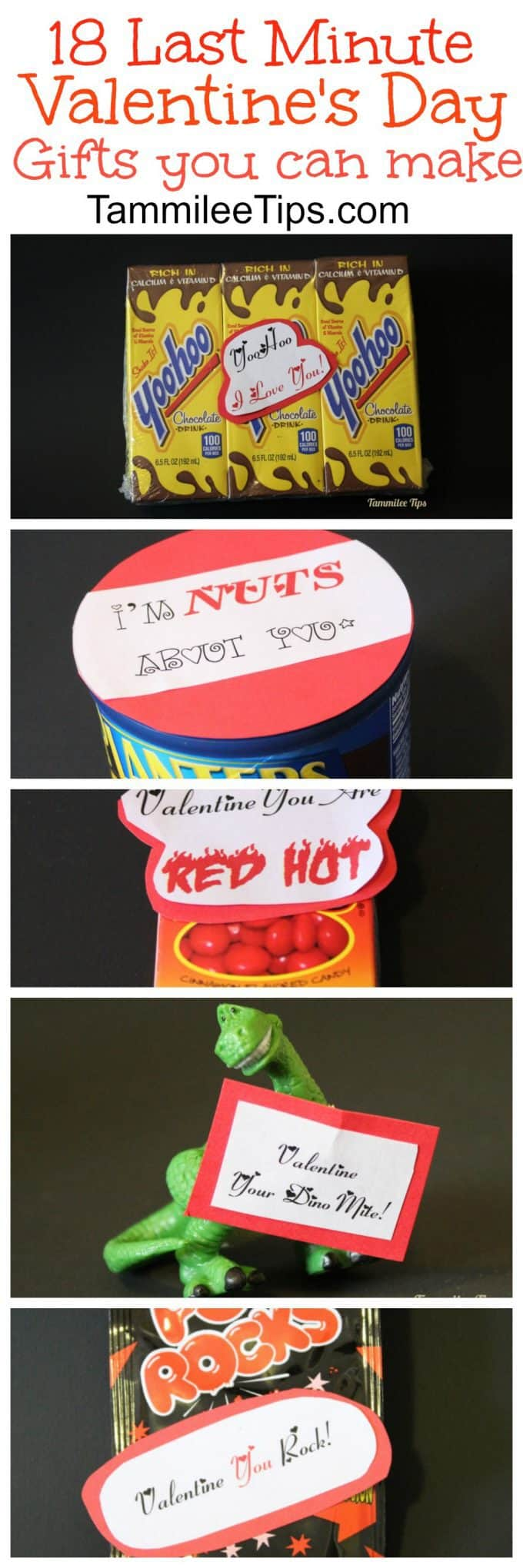 18 last minute DIY Cheap Valentines Day gifts you can make! For him, For Her, For kids there is something for everyone!