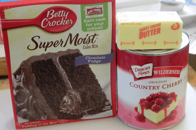 Super Easy Crock Pot Chocolate Cherry Dump Cake