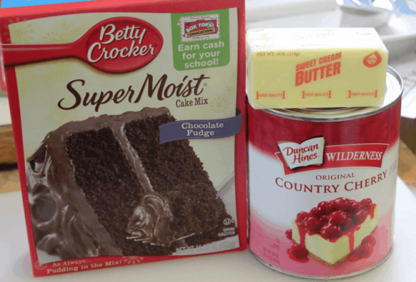 Crock Pot Chocolate Cherry Dump Cake Ingredients