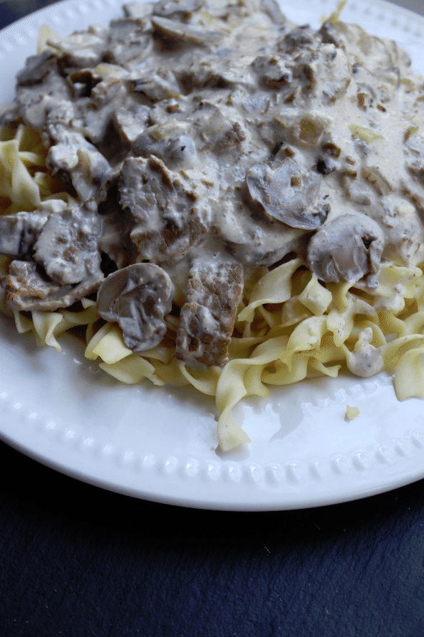 Crock Pot Garlic Beef Stroganoff Recipe
