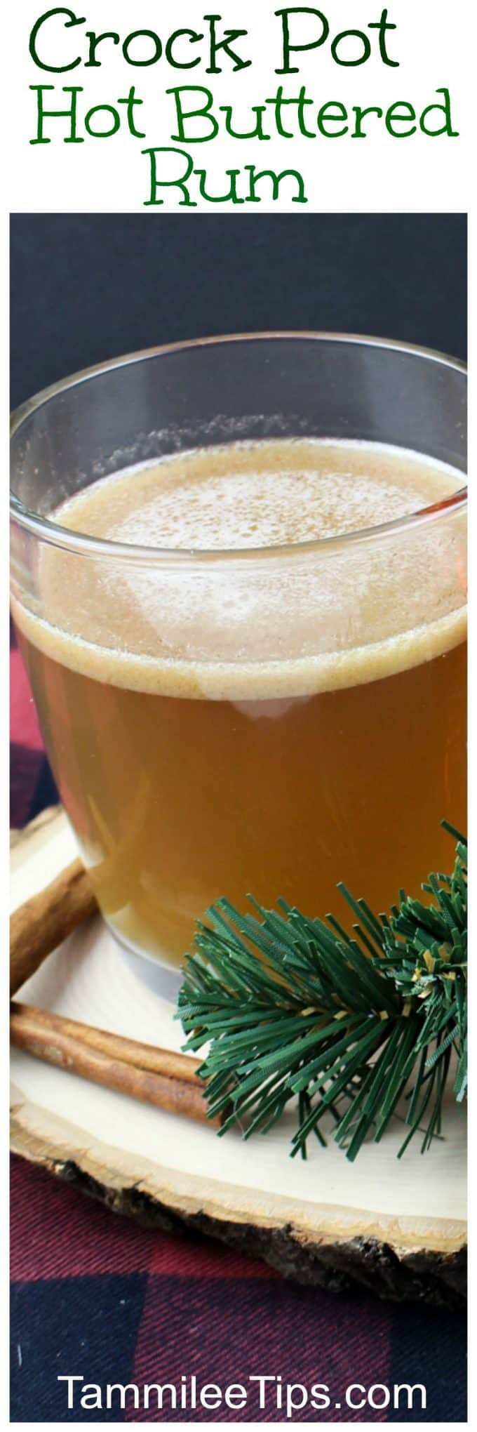 Quick and easy crockpot Hot Buttered Rum Cocktail Recipe will warm you from the inside on a cold winter night. This easy slow cooker crock pot recipe is delicious!