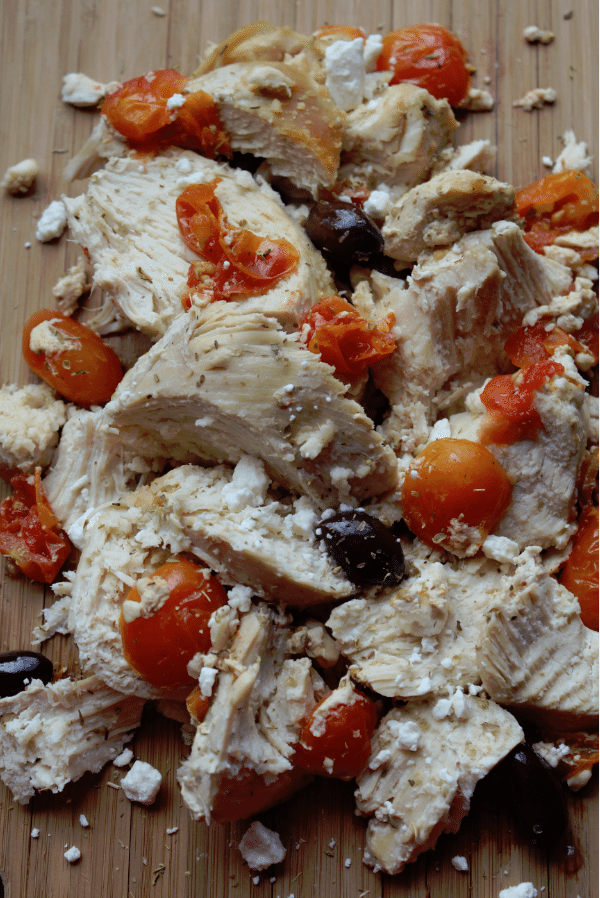 Crock Pot Mediterranean Chicken with kalamata olives