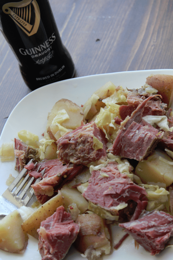 Guiness Corned Beef and Cabbage