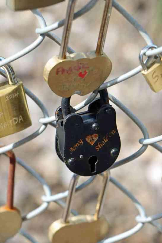 Amy and Sheldon lock Napa Valley Wine Train