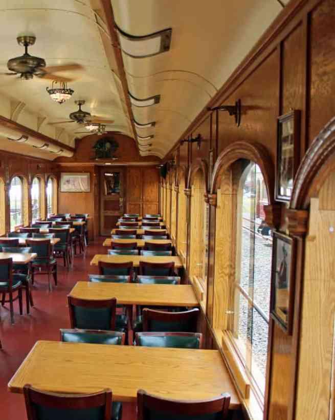 Napa Valley Wine Train inside