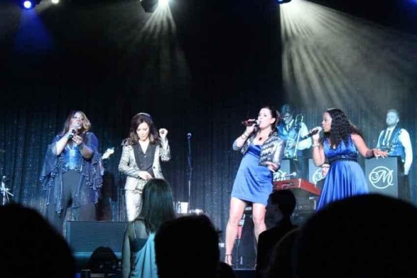 martina and backup vocalists
