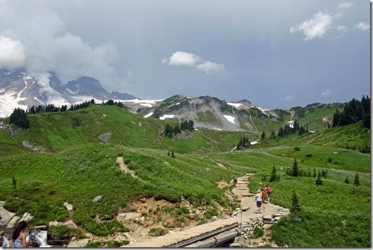 hiking at Mt Rainier