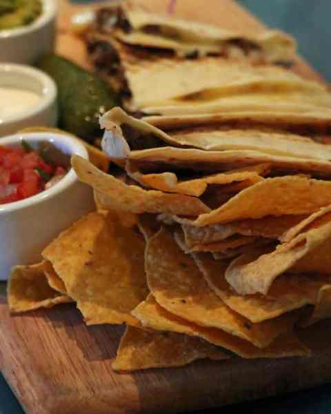 Chips and quesadillas at Margaritaville Las Vegas