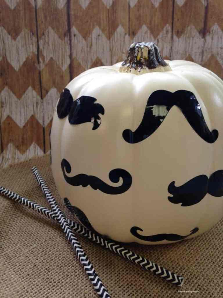 Mustache Pumpkin from Tammilee Tips