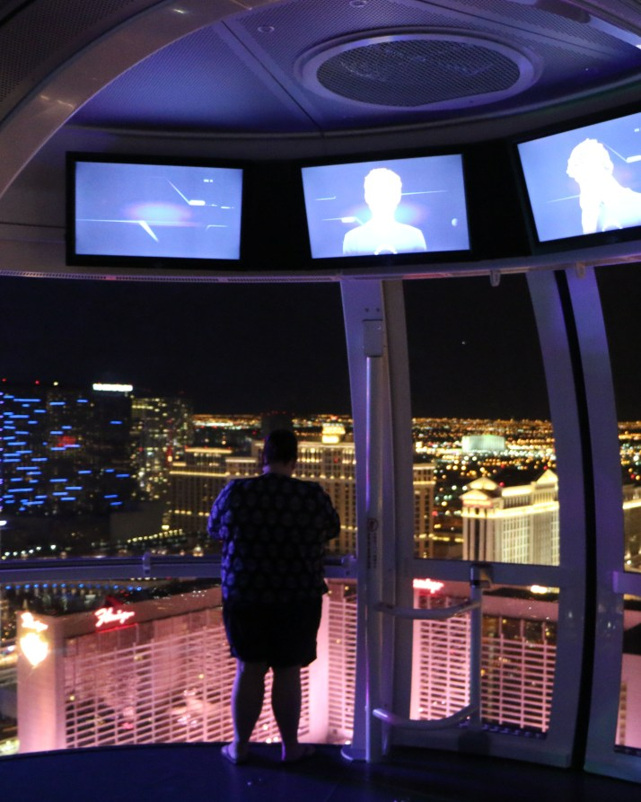 tammilee looking out of High Roller Las Vegas