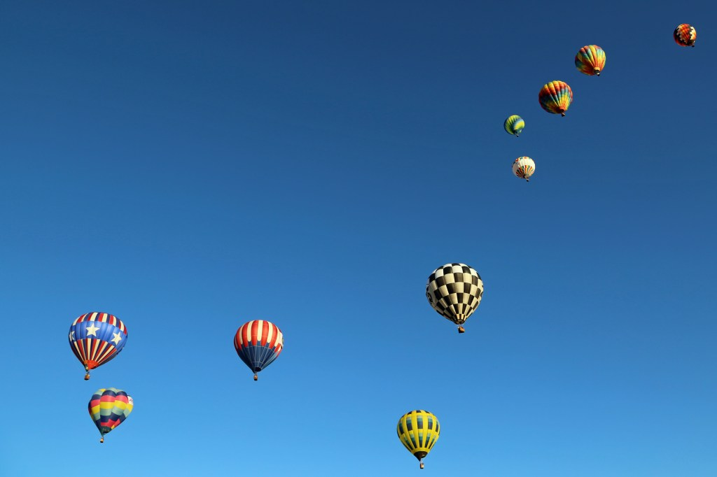 big dipper og hot air baloons at Reno Hot Air Baloon Race