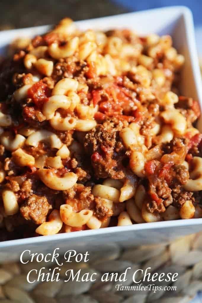 Crock Pot Chili Mac and Cheese Recipe