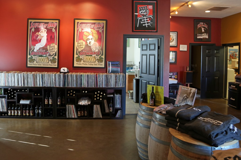 Entering Sleight of Hand Cellars tasting room Walla Walla Washington