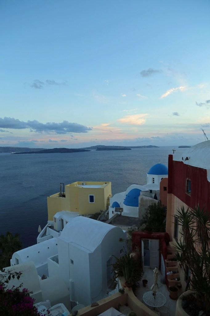Sunset in Santorini Greece