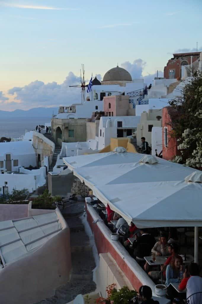 resteraunt in Santorini Greece