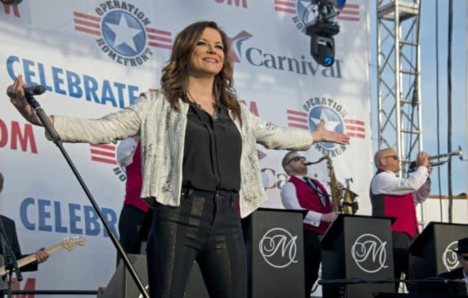 Carnival Freedom's Operation Homefront Event with a Concert By Martina McBride