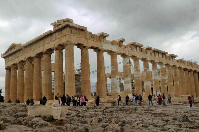 Visiting the Acropolis in Athens Greece