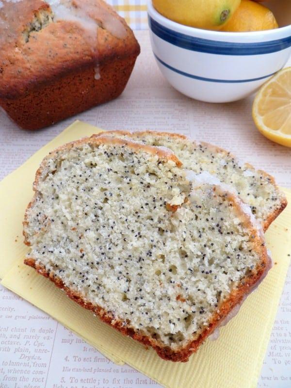 Lemon Almond Poppy seed Bread Recipe