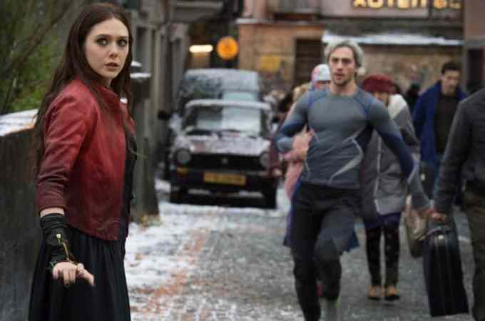 Avengers Age of Ultron interview with Elizabeth Olsen and Aaron Taylor-Johnson #AvengersEvent