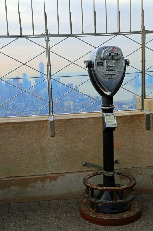 Binoculars on top of the Empire State Building
