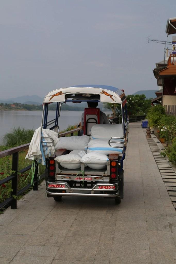 Chaing Khan Thailand tuk tuk along the Mekong River