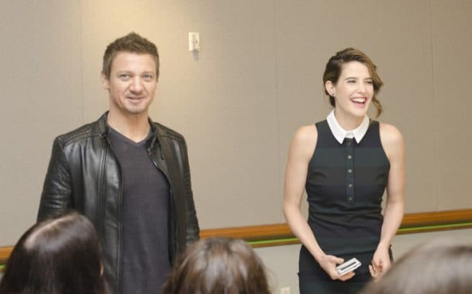 Avengers Age of Ultron interview with Jeremy Renner and Cobie Smulders #AvengersEvent