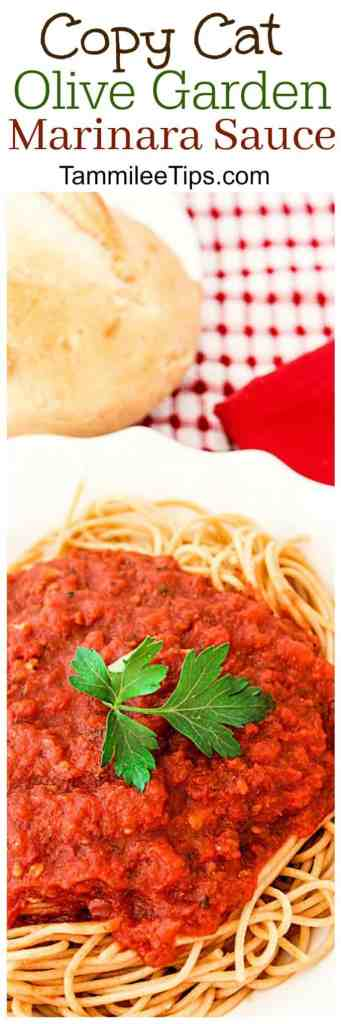 Super easy copy cat Olive Garden Marinara Sauce Recipe! Make your restaurant favorite at home with this copycat sauce recipe! Perfect for pasta night.