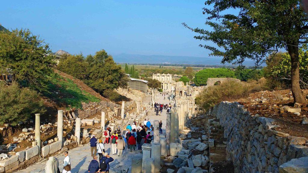 Walking down into Ephesus Turkey