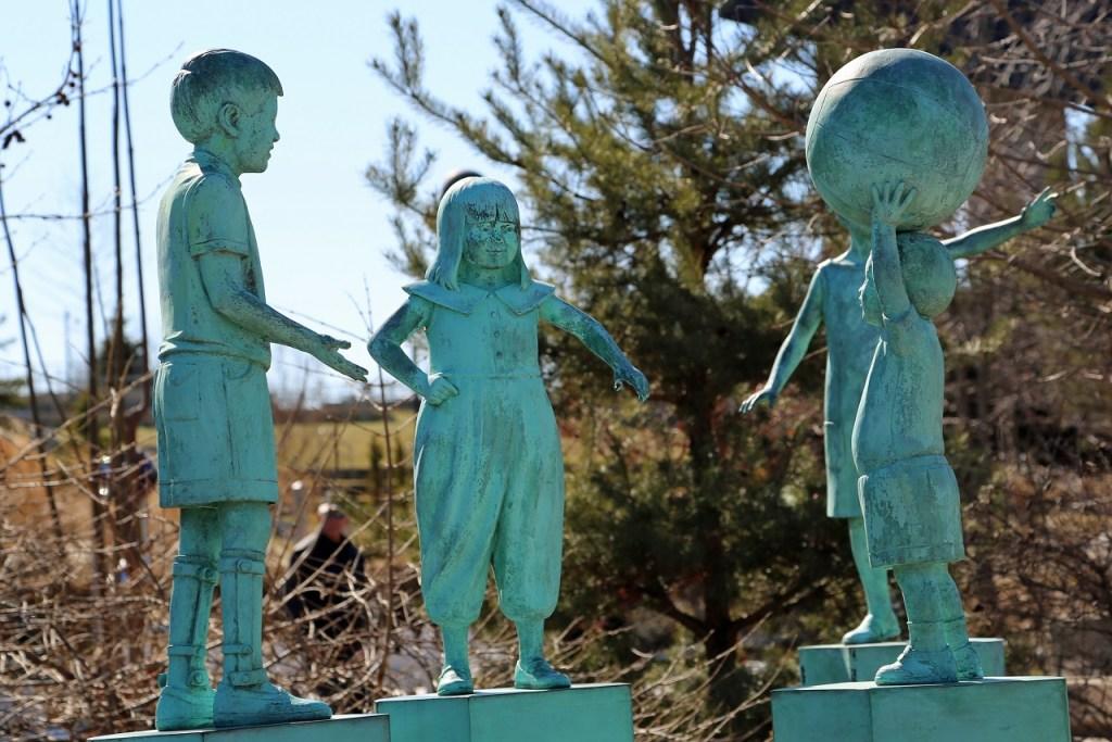 Children section of Sculpture Garden Park Grand Rapids