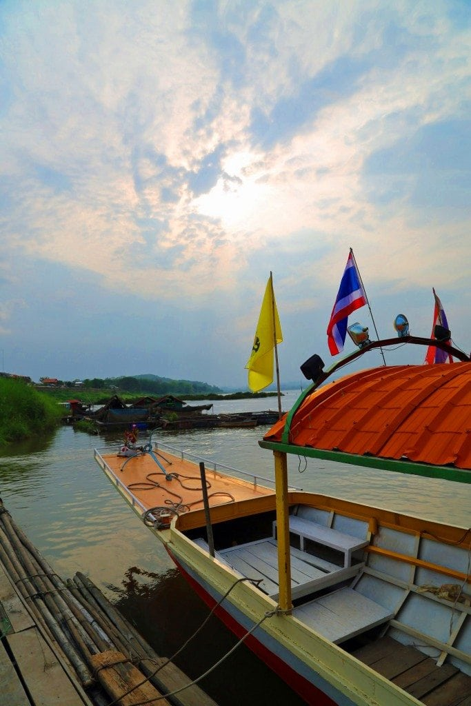 Sunset from the Long Boat on the Mekong River