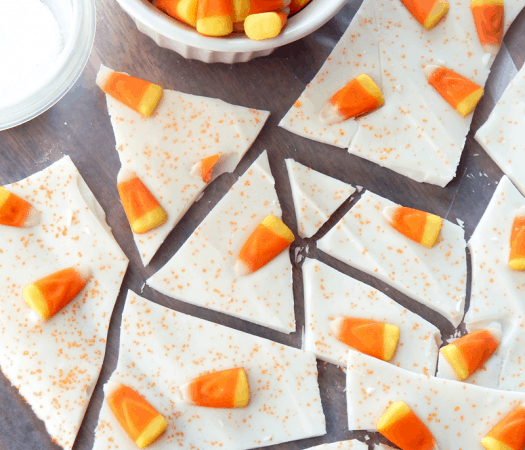 Candy Corn Bark Recipe perfect for Halloween!