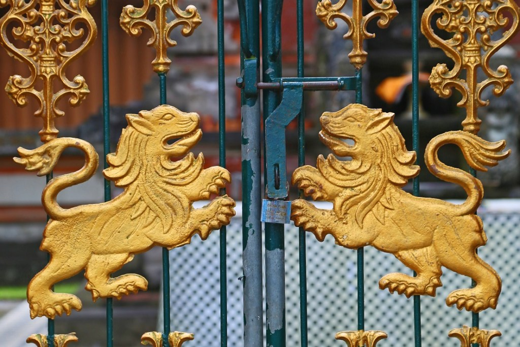 gate inside Lake Palace